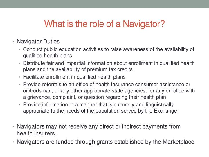 What is the role of a Navigator?