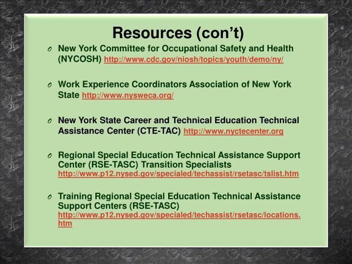 Resources (