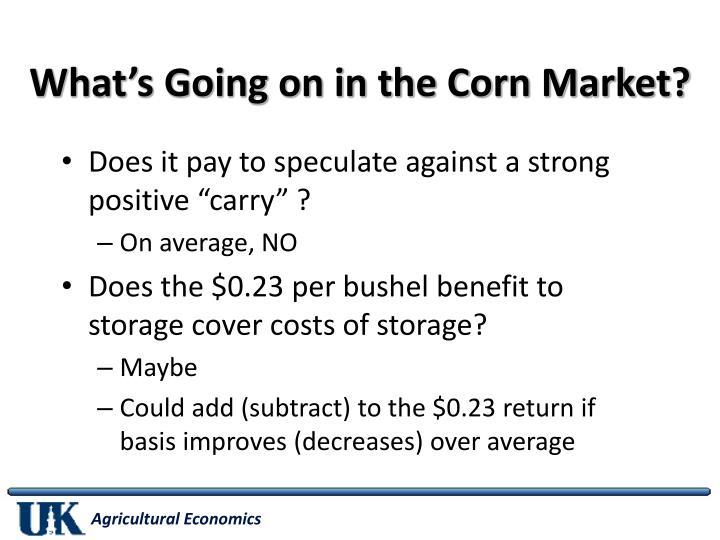 What's Going on in the Corn Market?