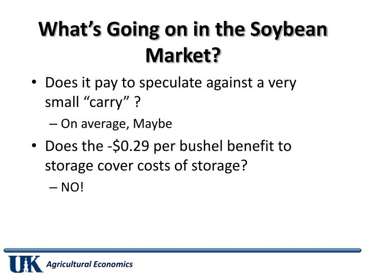 What's Going on in the Soybean Market?