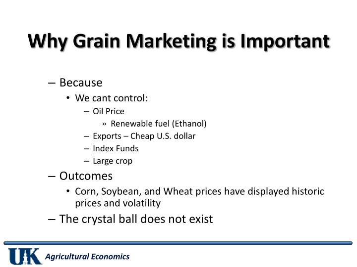 Why Grain Marketing is Important