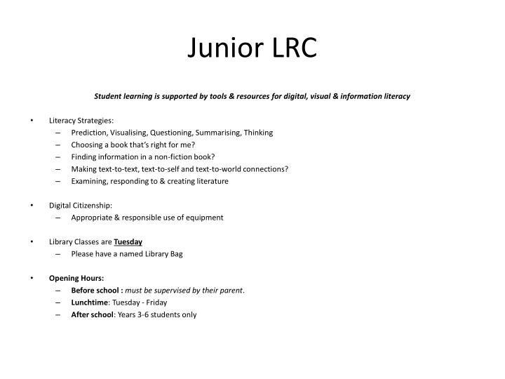 Junior LRC