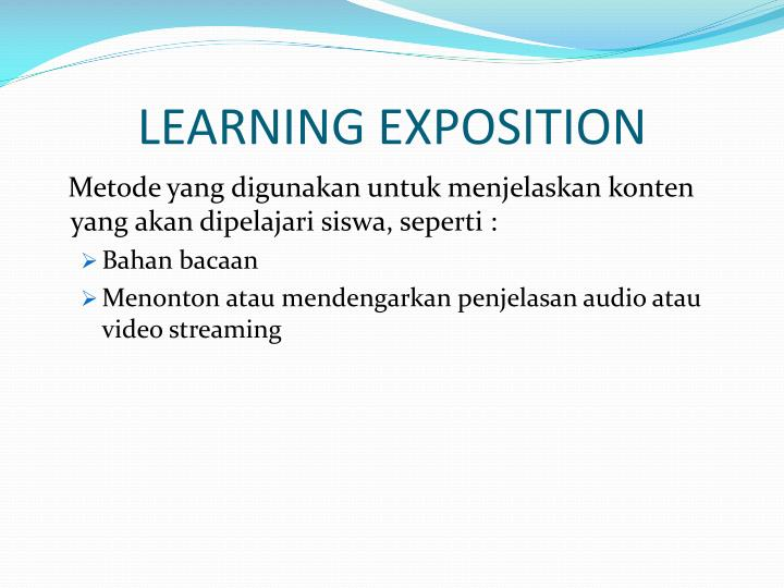 LEARNING EXPOSITION