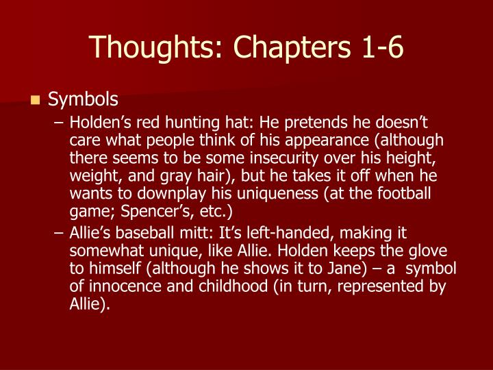 Thoughts: Chapters 1-6