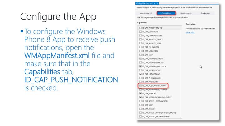 Configure the App