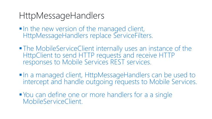 HttpMessageHandlers