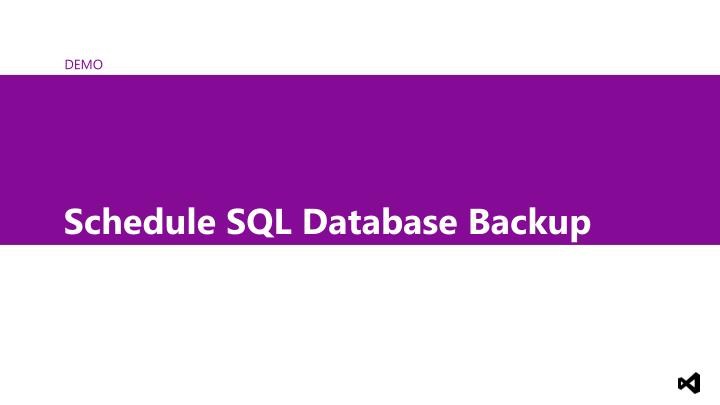 Schedule SQL Database Backup