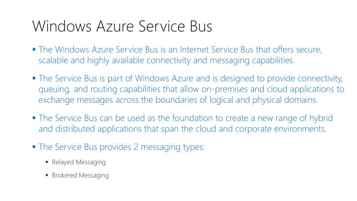 Windows Azure Service Bus