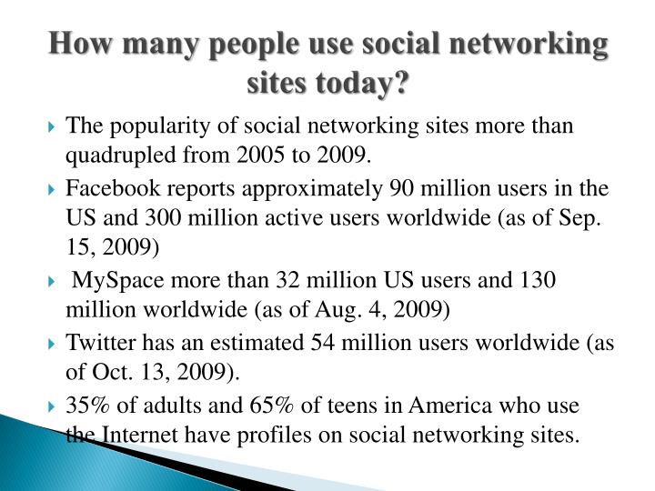 How many people use social networking sites today?