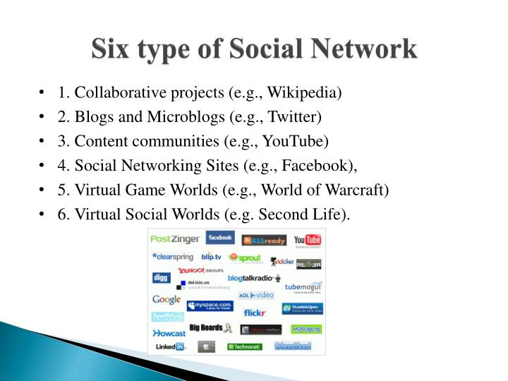 Six type of Social Network
