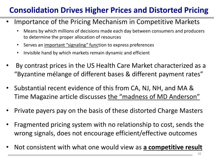 Consolidation Drives Higher Prices and Distorted Pricing