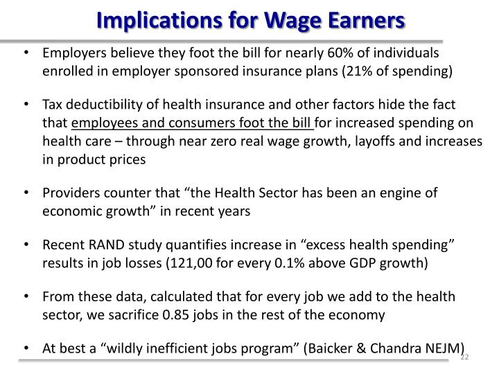 Implications for Wage Earners