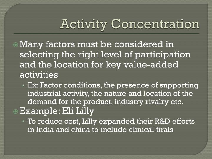 Activity Concentration