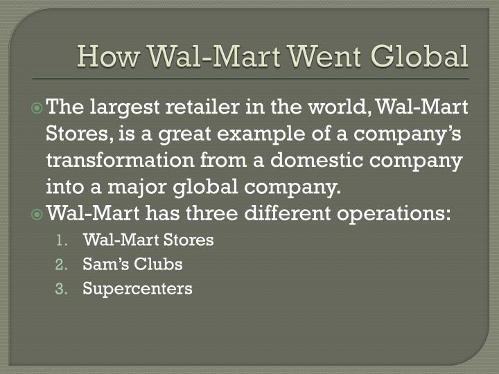 How Wal-Mart Went Global