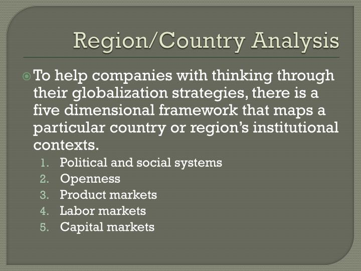 Region/Country Analysis
