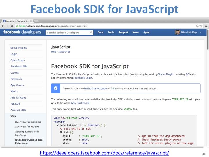 Facebook SDK for JavaScript