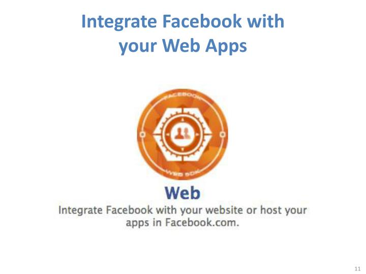 Integrate Facebook with