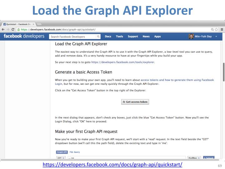 Load the Graph API Explorer