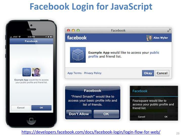 Facebook Login for JavaScript