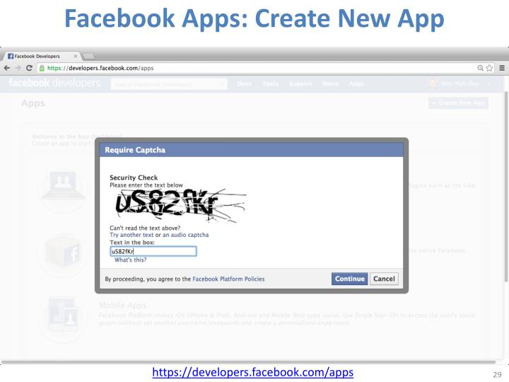Facebook Apps: Create New App