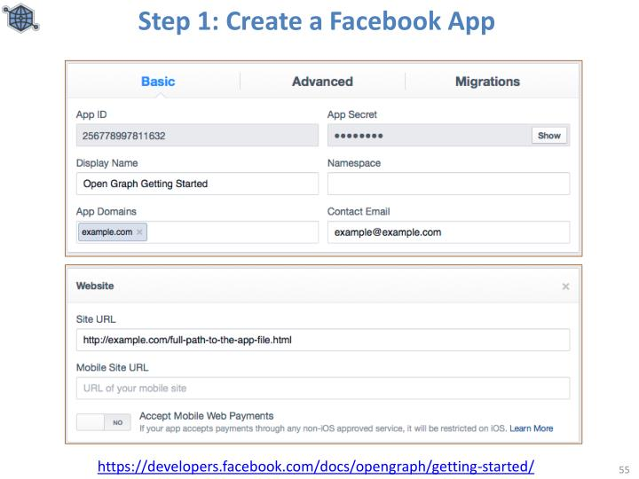 Step 1: Create a Facebook App