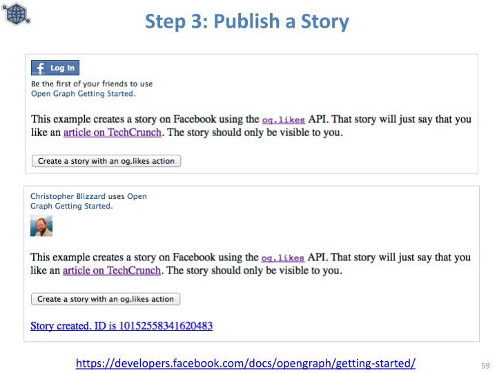 Step 3: Publish a Story