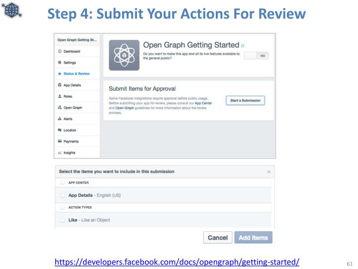 Step 4: Submit Your Actions For Review