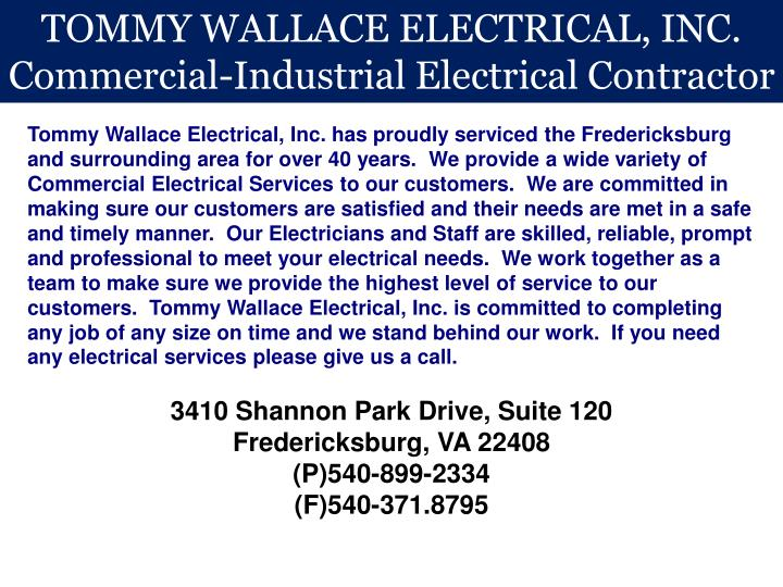TOMMY WALLACE ELECTRICAL, INC.