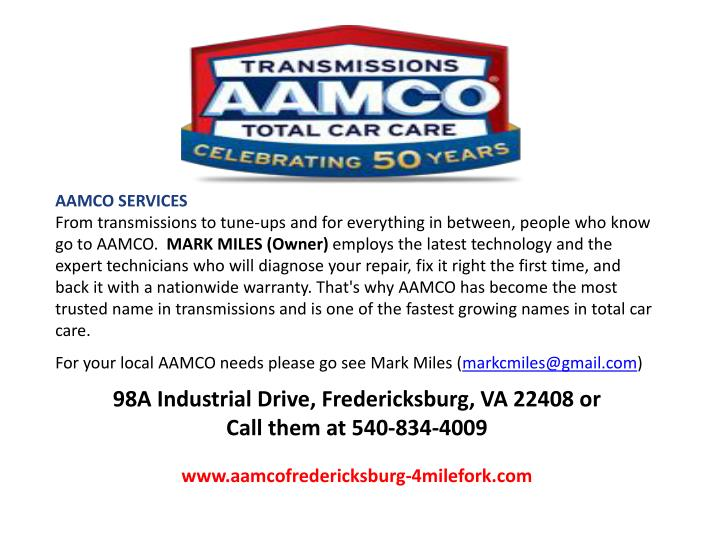 AAMCO SERVICES