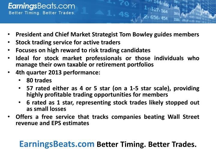 President and Chief Market Strategist Tom