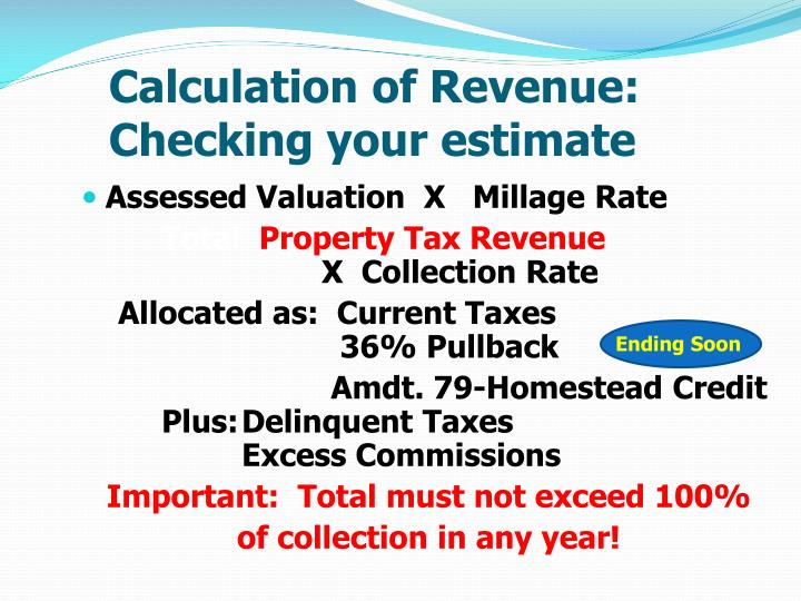 Calculation of Revenue: