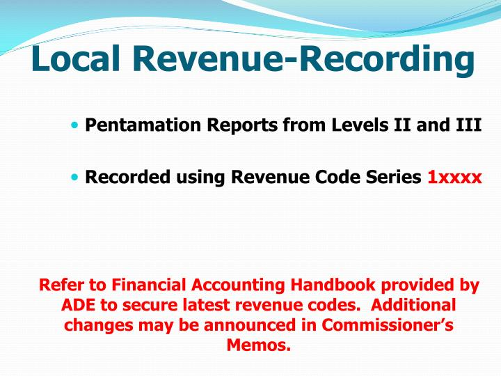 Local Revenue-Recording