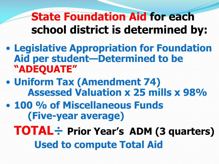 State Foundation Aid