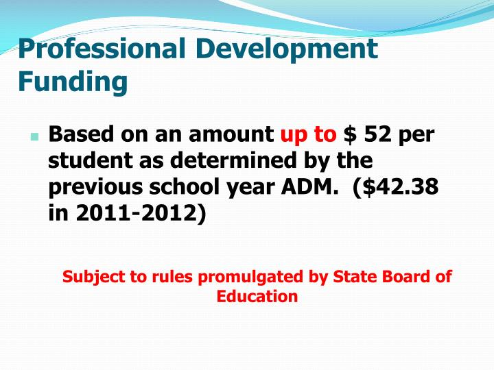 Professional Development Funding