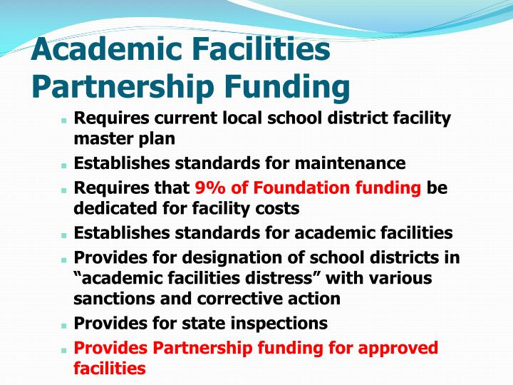 Academic Facilities Partnership Funding