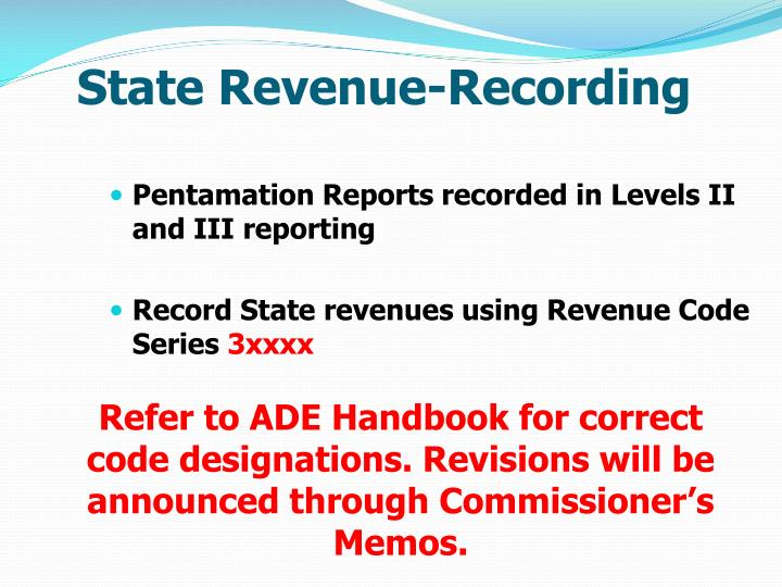 State Revenue-Recording