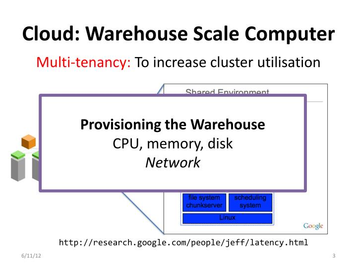 Cloud warehouse scale computer