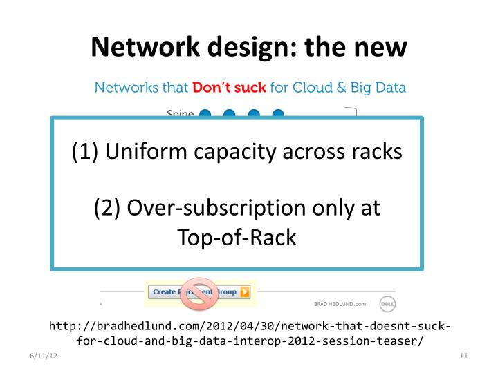 Network design: the new
