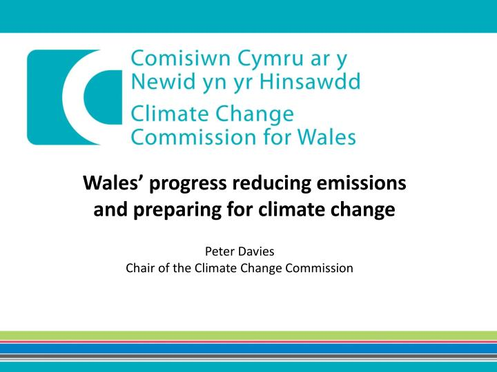 Wales' progress reducing emissions
