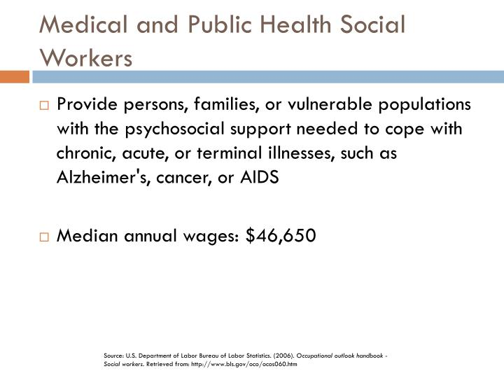 Medical and Public Health Social Workers