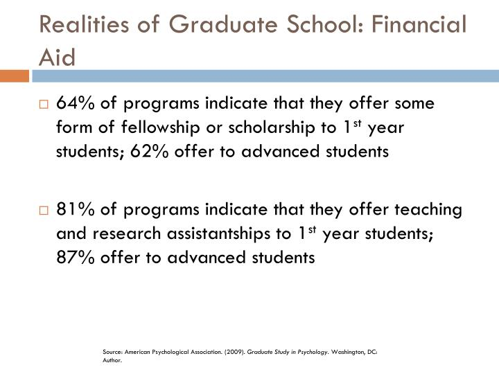 Realities of Graduate School: Financial Aid