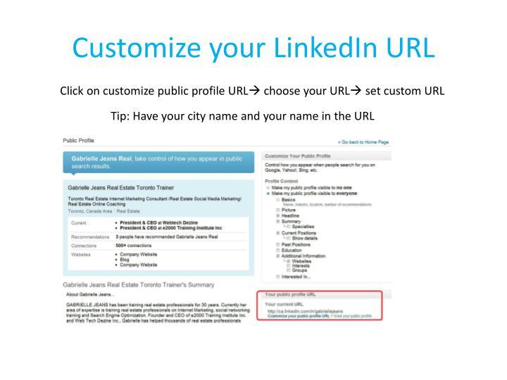Customize your LinkedIn URL