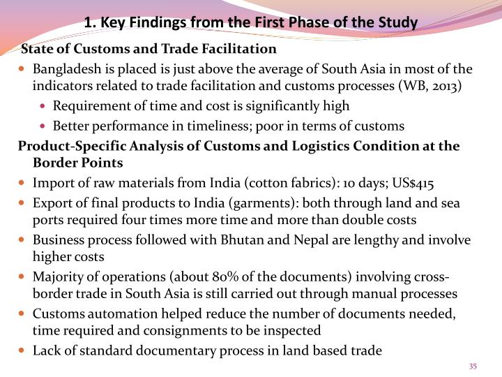 1. Key Findings from the First Phase of the Study