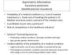asymmetric information insurance premiums healthcare car insurance