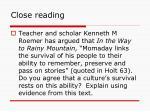 close reading5