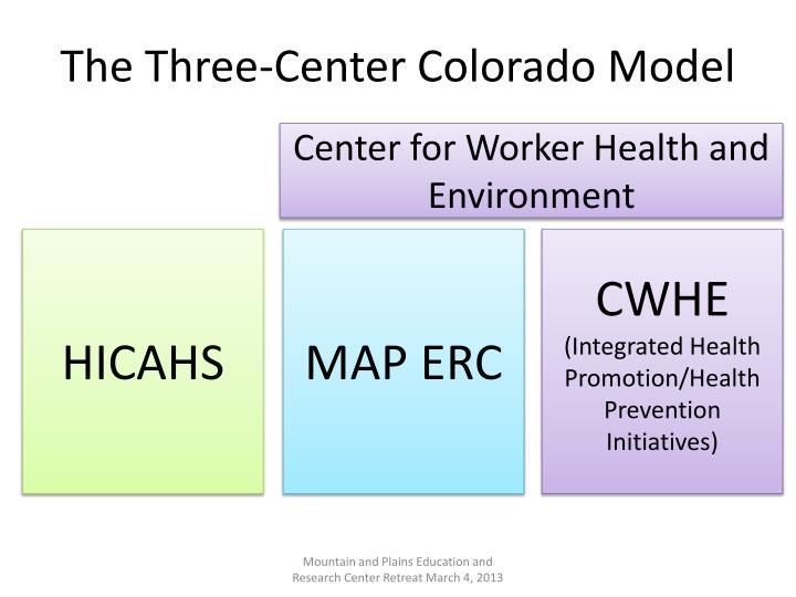 The Three-Center Colorado Model