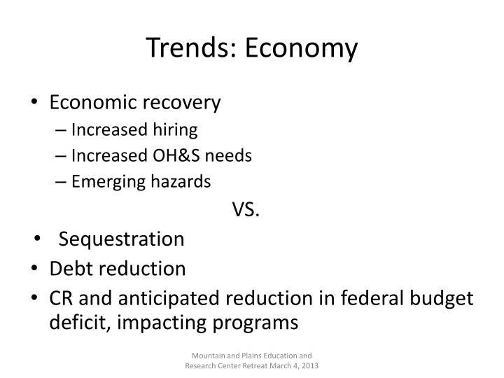 Trends: Economy