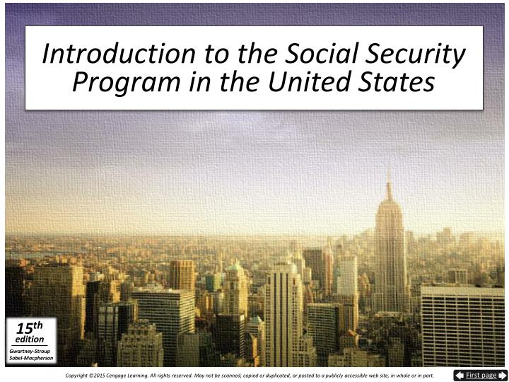 an introduction to the social security system Introduction america's social security system is in serious trouble payroll tax rates have been increased 17 times in the past 40 years, yet promised benefits.