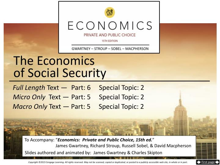 economics and social security The economic security of the broad middle class in the united states has eroded  in recent decades, with stagnating wages, vanishing job.