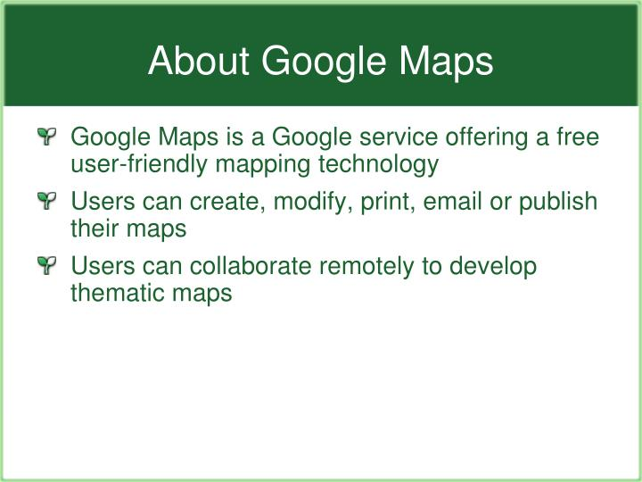 About google maps